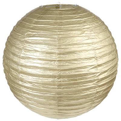 Partydeko Papierlampions XL gold