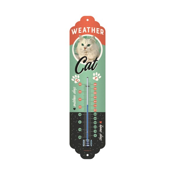 Thermometer Weather Cat