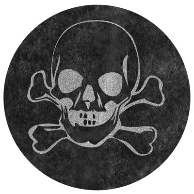 Platzsets Totenkopf schwarz