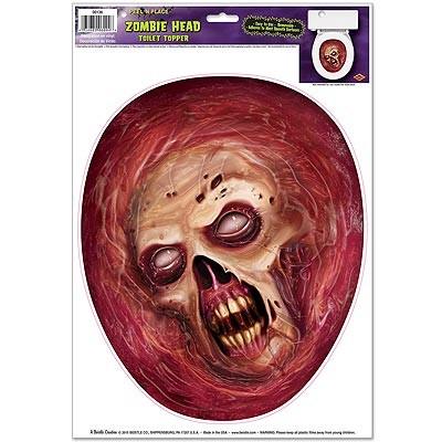 Toilettendeckeldeko Zombiekopf