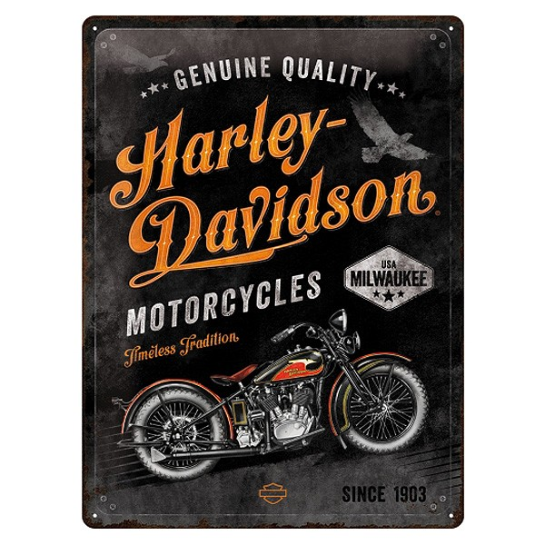 Blechschild Harley-Davidson Timeless Tradition 30x40 cm