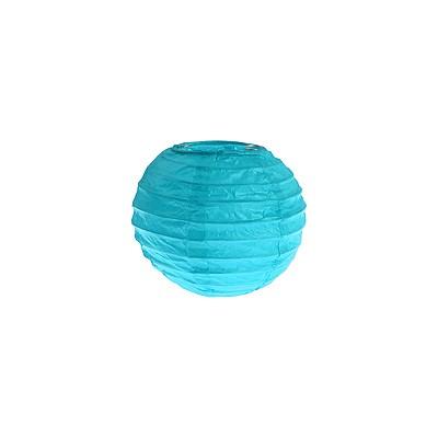 Partydeko Papierlampions türkis klein 10cm