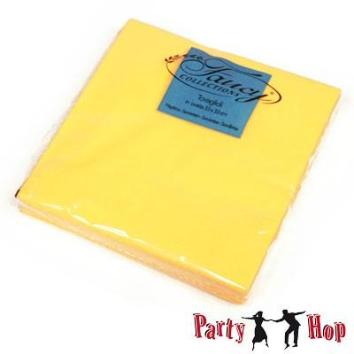 Papierservietten gelb 25 Stück