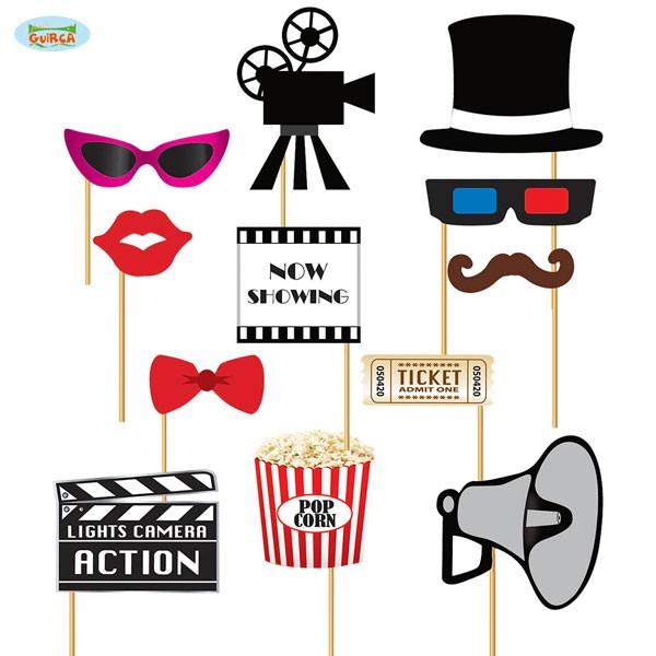 Foto Requisiten Set Movie Party