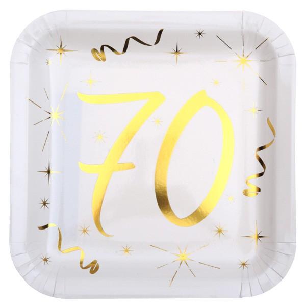 Partyteller 70. Geburtstag gold