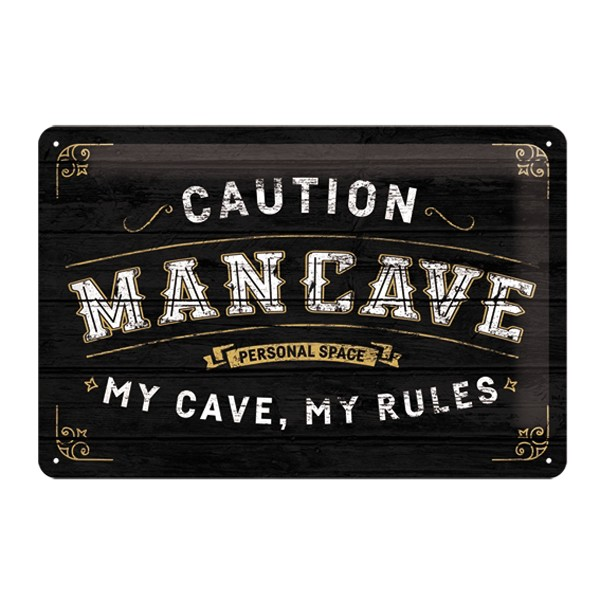 Blechschild Man Cave 30x20cm