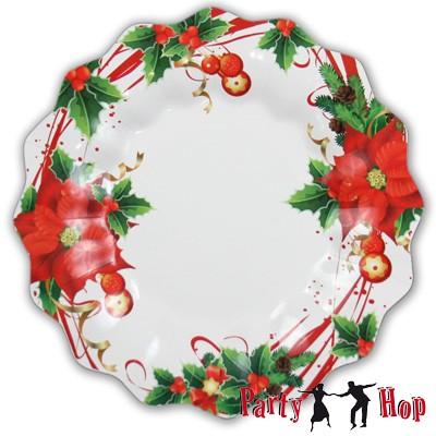 Pappteller Weihnachtsstern groß
