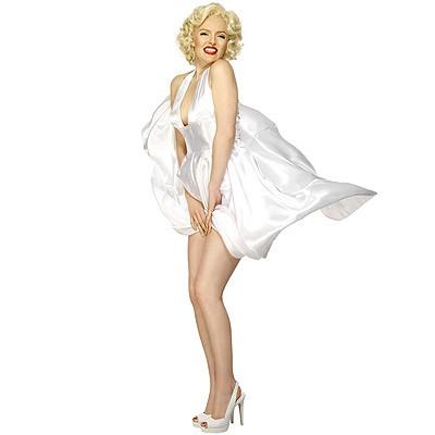 Marilyn Monroe Kleid weiß M