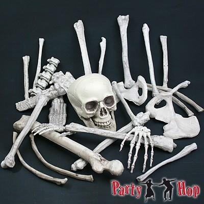 Deko-Knochen und Totenschädel