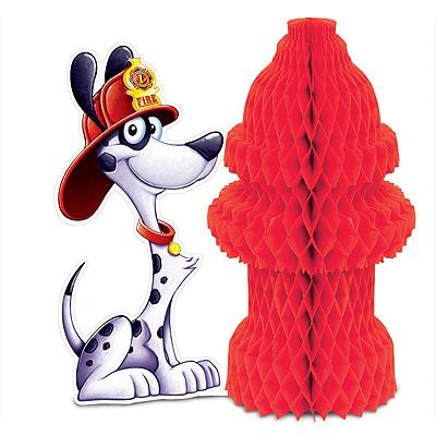 Tischdeko Hydrant Feuerwehrhund