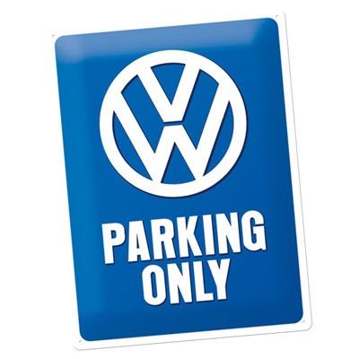 Blechschild VW Parking Only