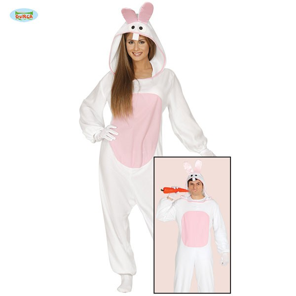 Tieroverall weißer Hase L