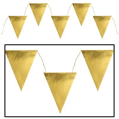 Partydeko Wimpelgirlande gold