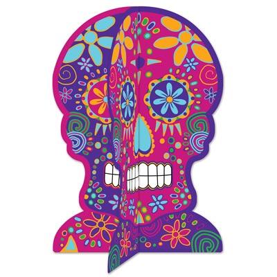 Tischdeko aufsteller day of the dead sch del aus karton for Mexikanische dekoration