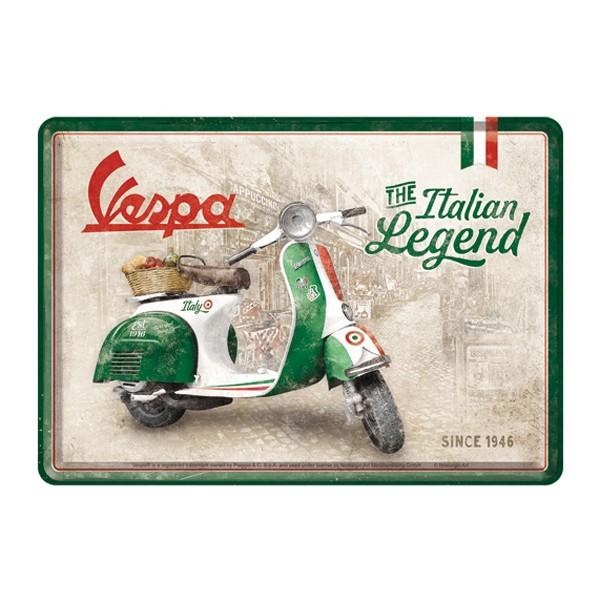 Blechpostkarte Vespa Italian Legend