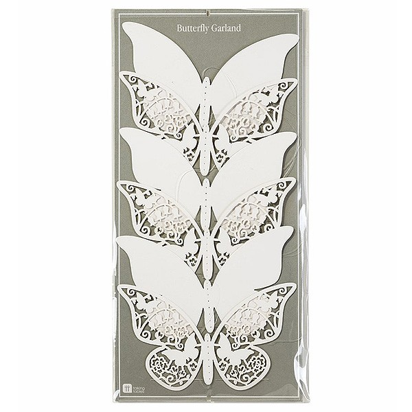 Weiße Schmetterlinge Hängedeko