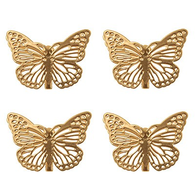 Dekoklammern Schmetterling gold