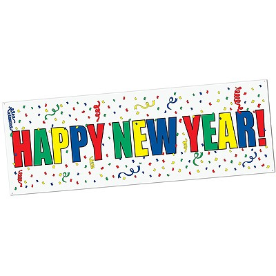 Partydeko Banner Happy New Year
