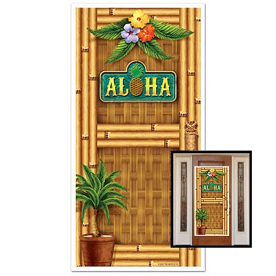 Partydeko Türposter Aloha