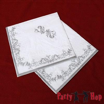 Papierservietten Impero silber