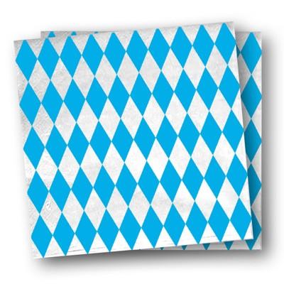 Servietten Bayern weiß blau