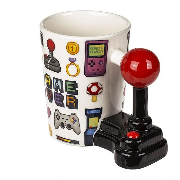 Kaffeebecher mit Joystickgriff