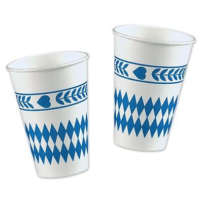 Pappbecher Bayrisch Blau Raute