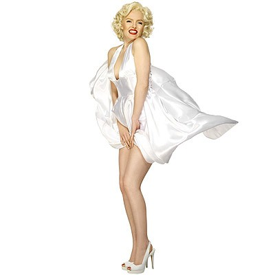 Marilyn Monroe Kleid weiß L