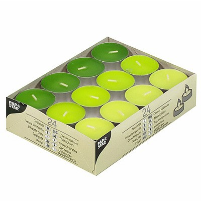 Teelichter kiwi kiwigrün maigrün