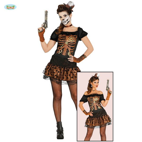 Steampunk Skelett Lady L
