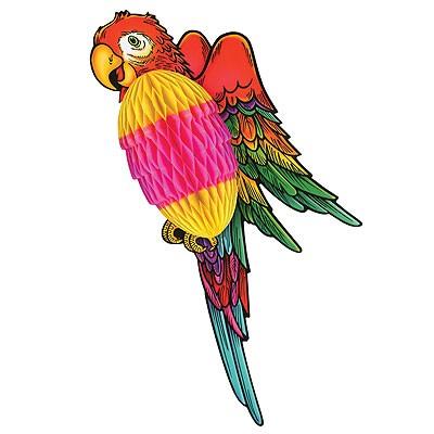 Wabenfigur Papagei bunt