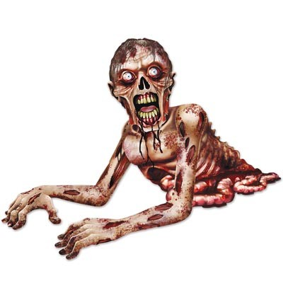 Halloweendeko kriechender Zombie