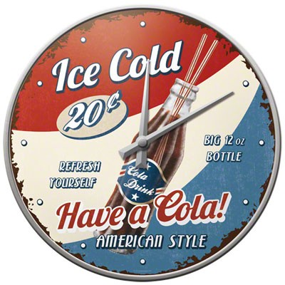 Wanduhr Have a Cola Ice Cold
