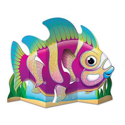 Tischaufsteller glitzernder Fisch