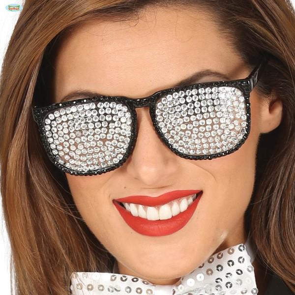 Partybrille Glitzersteine