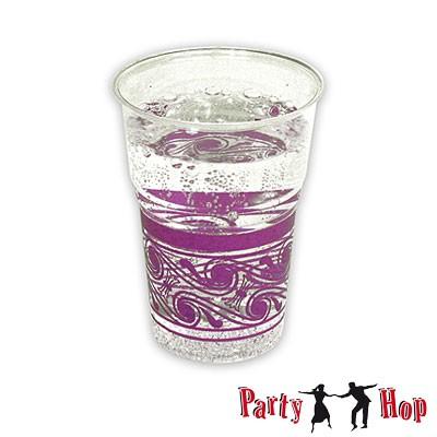 Kunststoffbecher transparent  violett