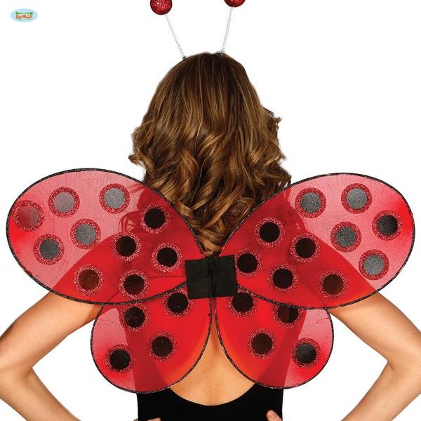 Marienkäfer Kostümflügel Glitter