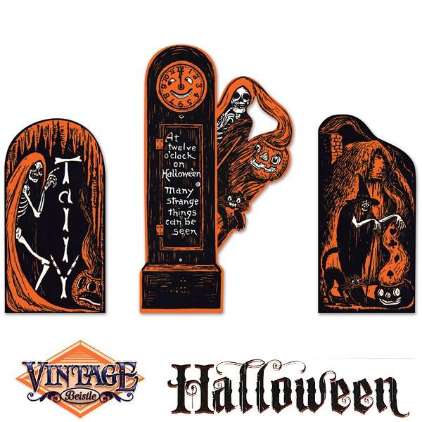 Vintage Halloween Dekomotive Standuhr
