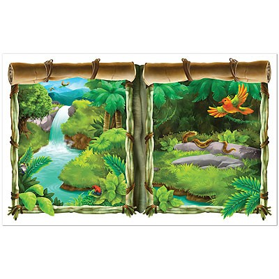 Wanddeko Fenster Dschungel