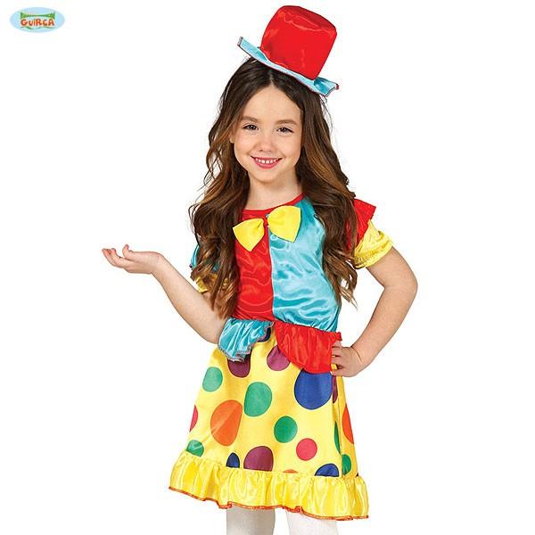 Kinder Karnevalskostüm Clownmädchen 7-9 Jahre
