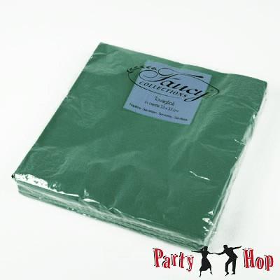 Papierservietten dunkelgrün 25 Stück