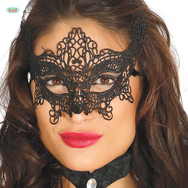 Schwarze Filigranmaske