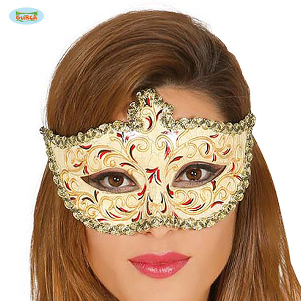 elegante halbmaske im venezianischen stil edel glamour mottoparty fest karneval fasching. Black Bedroom Furniture Sets. Home Design Ideas