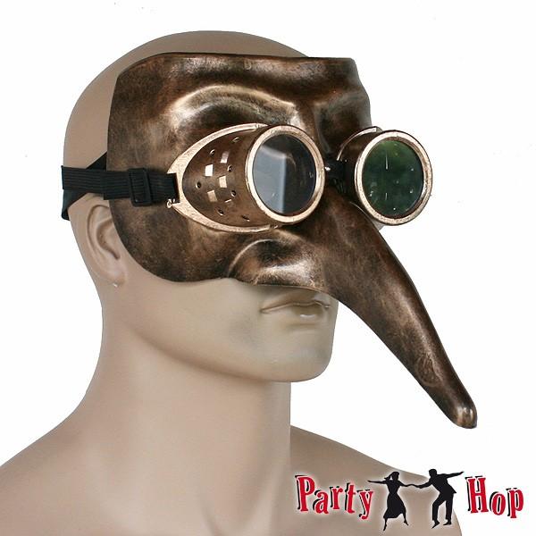 Steampunk Schnabelmaske Fliegerbrille