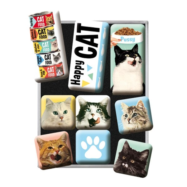 Magnet-Set Happy Cats