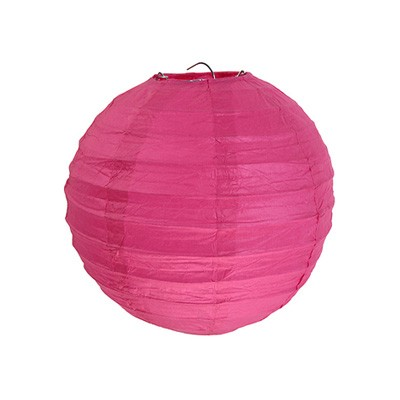 Partydeko Papierlampions pink mittel 20cm