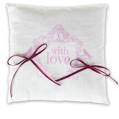 Ringkissen With Love rosa