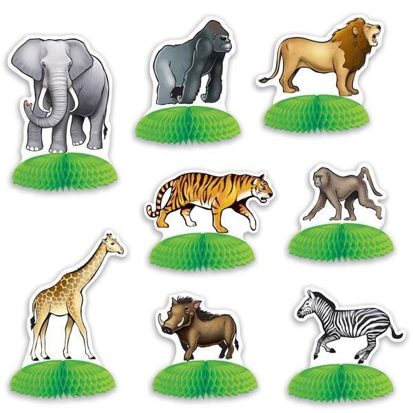 Tischdeko Safari Dschungel Tiere