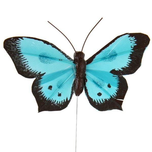 Deko-Schmetterlinge türkis
