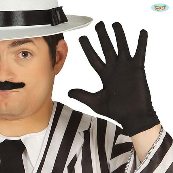 Schwarze Handschuhe kurz